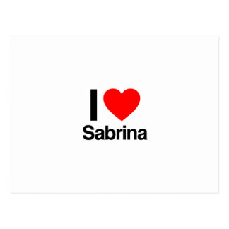 i love sabrina postcard