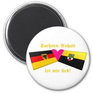 I Love Sachsen-Anhalt ist mir lieb 2 Inch Round Magnet