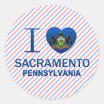 I Love Sacramento, PA Round Stickers