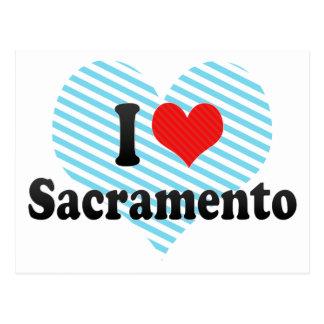 I Love Sacramento Postcard
