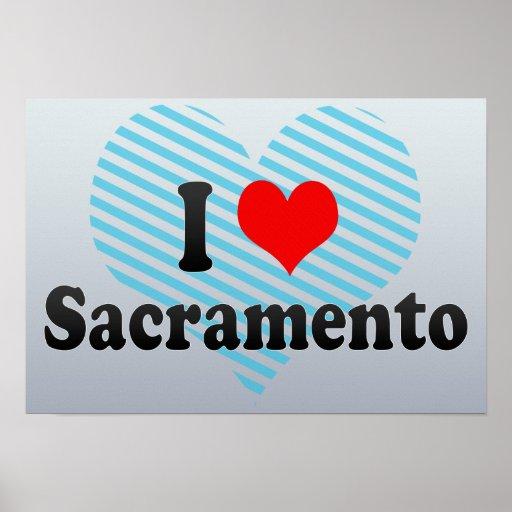 I Love Sacramento, United States Poster