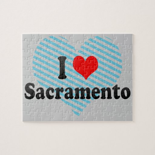 I Love Sacramento, United States Jigsaw Puzzles