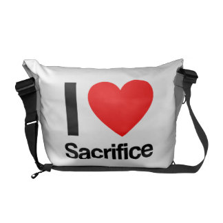 i love sacrifice messenger bags