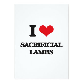 I Love Sacrificial Lambs 5x7 Paper Invitation Card