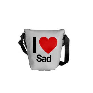i love sad messenger bags