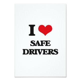I Love Safe Drivers 3.5x5 Paper Invitation Card