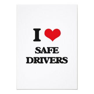 I Love Safe Drivers 5x7 Paper Invitation Card