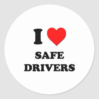 I Love Safe Drivers Stickers