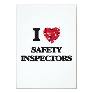 I love Safety Inspectors 5x7 Paper Invitation Card