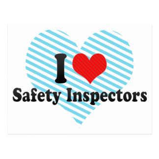 I Love Safety Inspectors Postcard