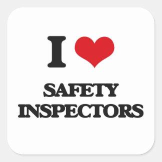 I love Safety Inspectors Square Sticker