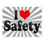 I love Safety Postcard