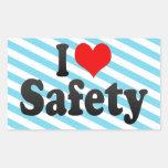 I love Safety Rectangle Sticker