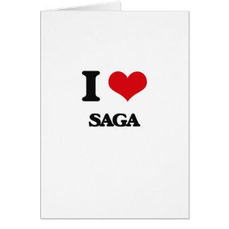 I Love Saga Greeting Card