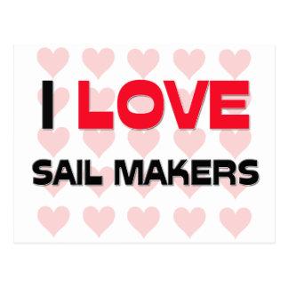 I LOVE SAIL MAKERS POSTCARD