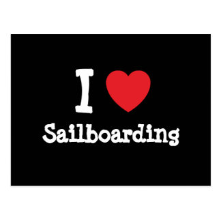 I love Sailboarding heart custom personalized Postcard