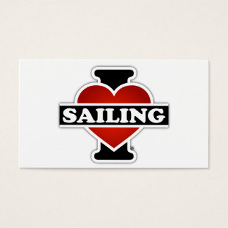 I Love Sailing Business Card