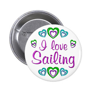 I Love Sailing 2 Inch Round Button