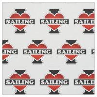 I Love Sailing Fabric