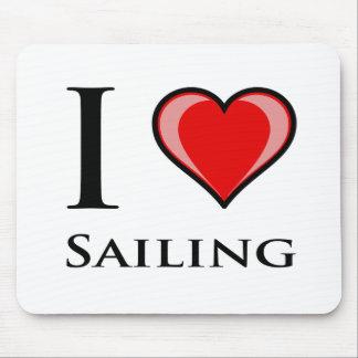 I Love Sailing Mouse Pad