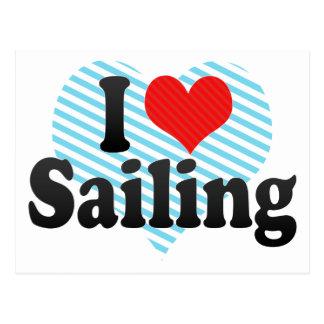 I Love Sailing Postcard