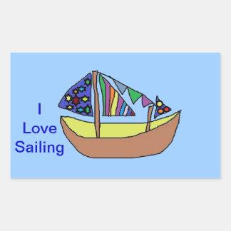 I Love Sailing STICKERS