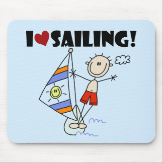 I Love Sailing T-shirts and Gifts Mouse Pad