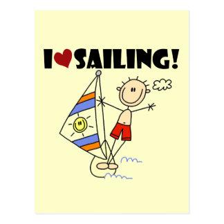 I Love Sailing T-shirts and Gifts Postcard