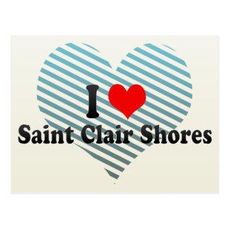 I Love Saint Clair Shores United States Post Cards
