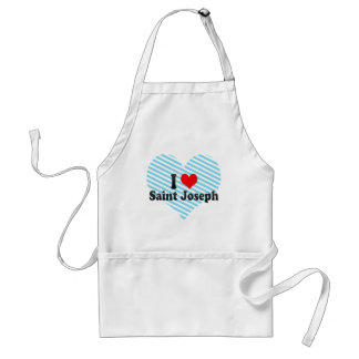 I Love Saint Joseph, United States Adult Apron