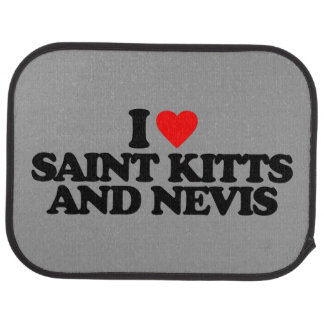 I LOVE SAINT KITTS AND NEVIS CAR MAT
