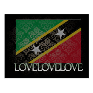 I love Saint Kitts And Nevis Cool Postcard