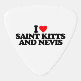 I LOVE SAINT KITTS AND NEVIS GUITAR PICK