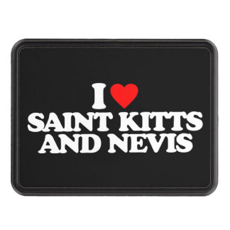 I LOVE SAINT KITTS AND NEVIS HITCH COVERS