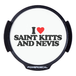 I LOVE SAINT KITTS AND NEVIS LED WINDOW DECAL