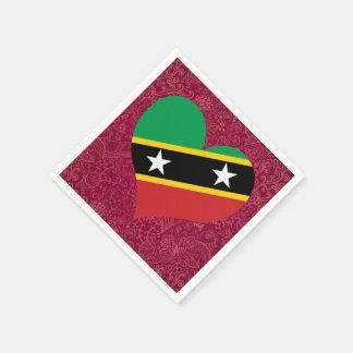I Love Saint+Kitts+and+Nevis Paper Napkin