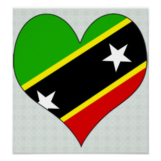I Love Saint Kitts And Nevis Print