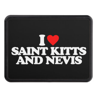 I LOVE SAINT KITTS AND NEVIS TOW HITCH COVERS