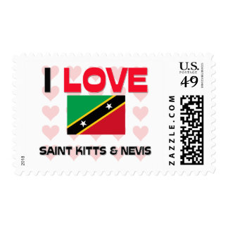 I Love Saint Kitts & Nevis Stamps