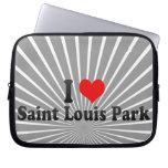 I Love Saint Louis Park, United States Laptop Sleeve