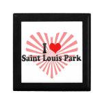 I Love Saint Louis Park, United States Trinket Box
