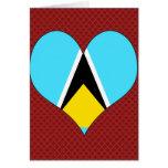 I Love Saint Lucia Card