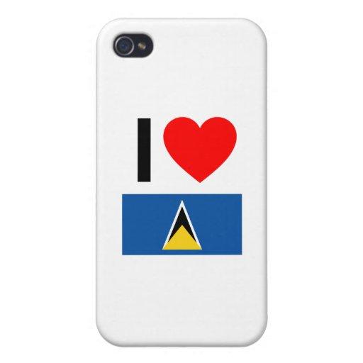 i love saint lucia iPhone 4 covers