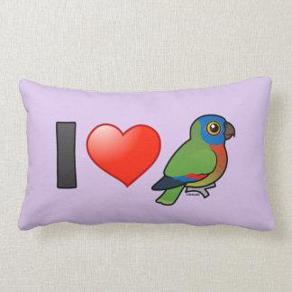 I Love Saint Lucia Parrots Throw Pillows