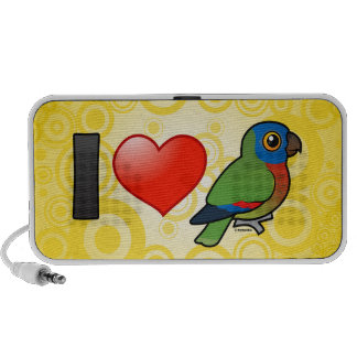 I Love Saint Lucia Parrots Travelling Speakers
