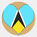 I Love Saint Lucia Sticker