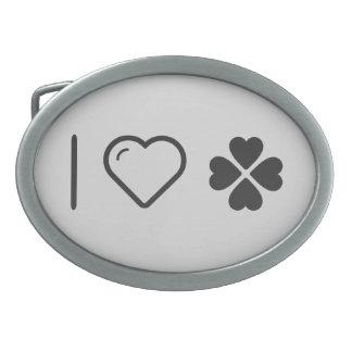 I Love Saint Patrick Day Oval Belt Buckles