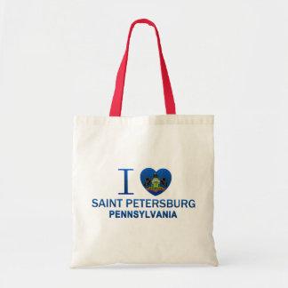 I Love Saint Petersburg, PA Canvas Bags