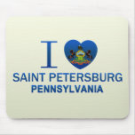 I Love Saint Petersburg, PA Mouse Pad