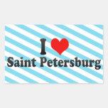 I Love Saint Petersburg, Russia Stickers